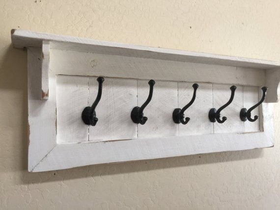 6 x 1950/'s Style ~ Retro Cast Iron Coat Hooks ~