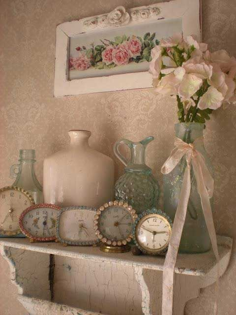#shabby chic #vintage clocks! love everything! imgur: the simple image sharer