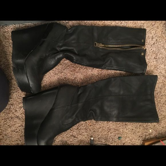 Candies Brand Boots Super cute Cnadies brand black boots. They are size 6.5 and can match with almost anything. Only worn a handful of times Candie's Shoes Heeled Boots