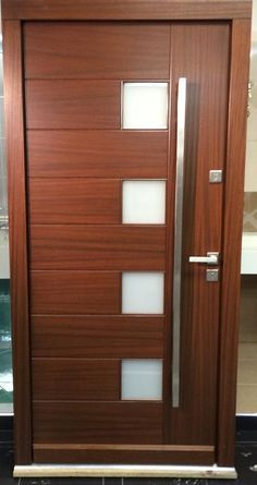 Modern Meranti Wood Front Entry Door IN STOCK Inquire Today ! // & Modern Meranti Wood Front Entry Door IN STOCK Inquire Today ! http ...