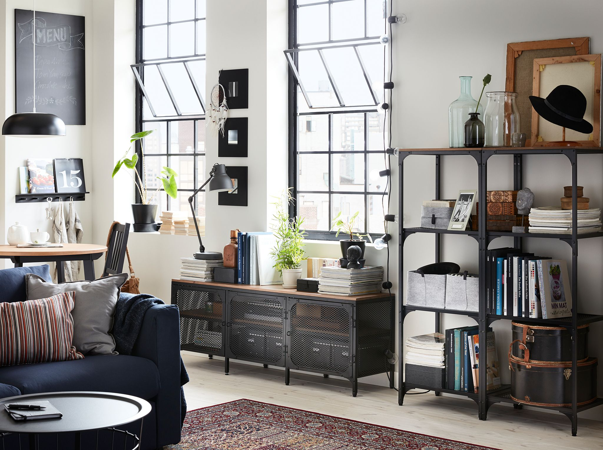 Wohnzimmer Industrial ~ Ways to bring industrial storage solutions to your home