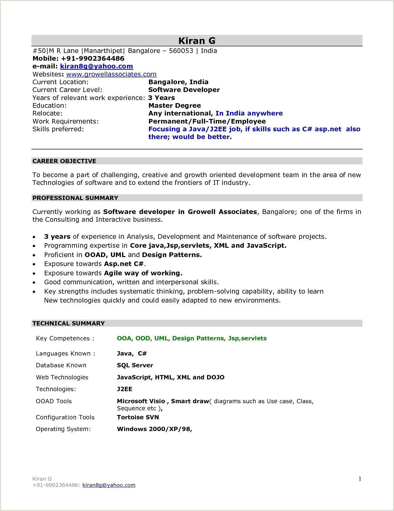 Fresher Resume format for Mba Finance in 2020 Resume