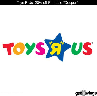 Toys R Us: 20% off Printable Coupon Good Through 11/21    GET IT: http://gtsvngs.co/ZYXXw8