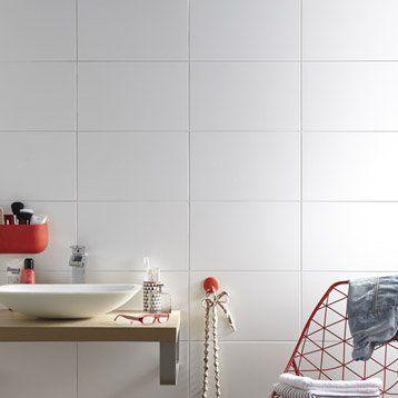 Carrelage mural Basic mat AERO en faïence, blanc, 25 x 40 cm ...