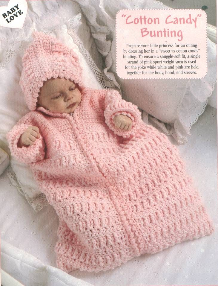 Cotton Candy Bunting Free Crochet Pattern Crochet Baby Infant