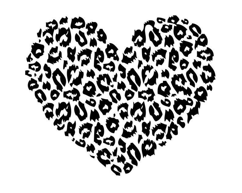 Leopard Print Heart Love Animal Card Invitation Tiger Zoo Camo Etsy In 2020 Cricut Projects Vinyl Cricut Vinyl Cricut Design