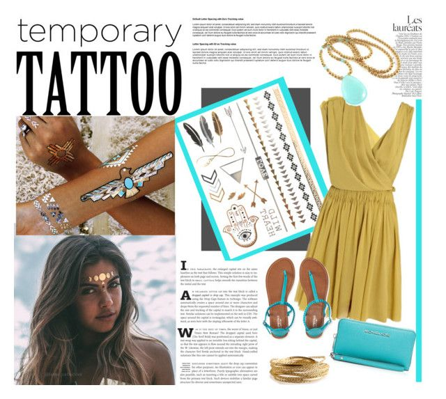 """""""Senza titolo #3793"""" by lisadcruciani ❤ liked on Polyvore featuring Flash Tattoos, Lanvin, Aéropostale, MICHAEL Michael Kors and YooLa"""