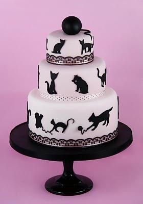 Cat silhouette cake Food Art Design Pinterest Silhouette