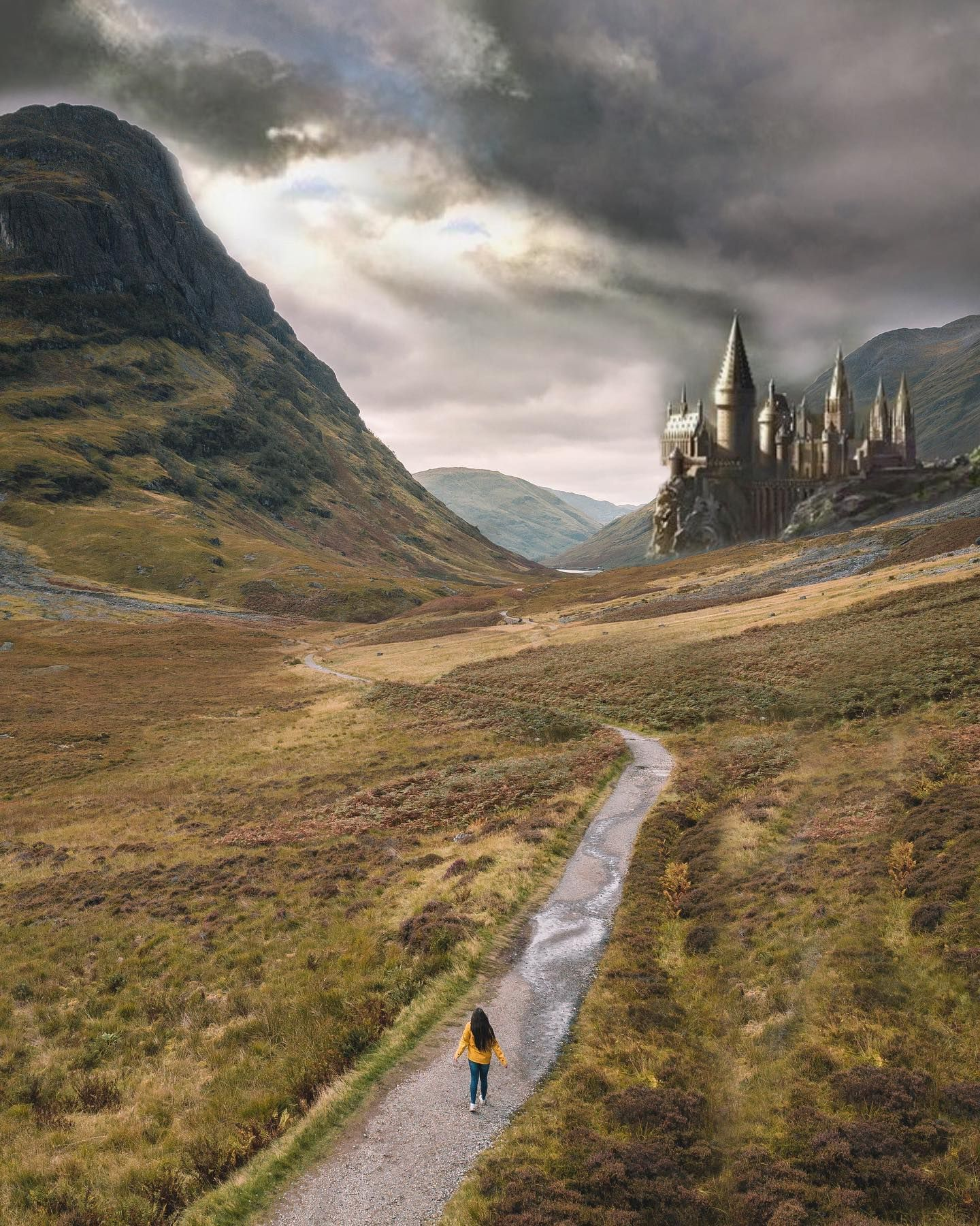 Always Take The Scenic Route Decided To Bypass The Thestrals And Take A Nice Leisurely Walk All The Way To Hogwarts Did You Scenic Routes Scenic Hogwarts