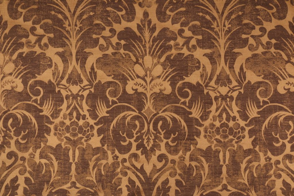 Damask Upholstery Fabric In Choc Gold This High End Woven