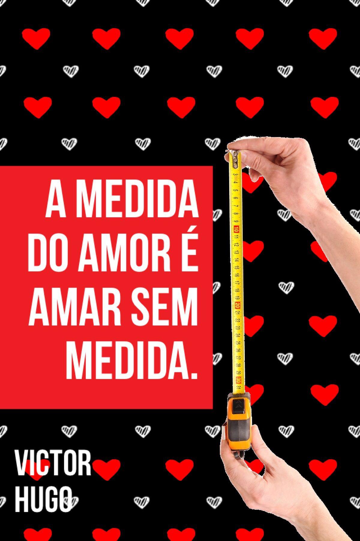 A Medida Do Amor E Amar Sem Medida Victor Hugo Frase