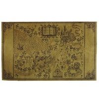 Map of Magical World Harry Potter Kraft Paper Posters Home