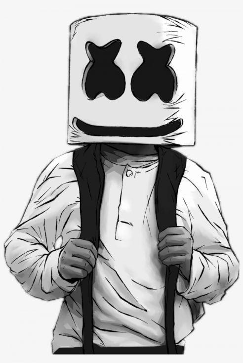 Dj Marshmello Drawing : marshmello, drawing, Marshmello, Disney, Drawings,, Joker, Wallpaper