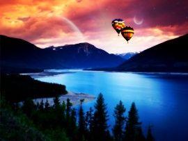 globos aerostaticos atardecer - Buscar con Google