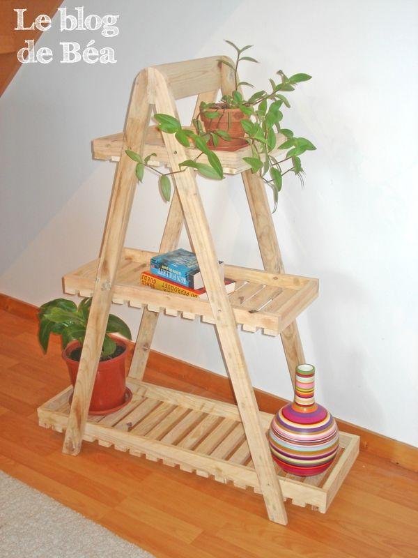 etag re avec des planches de r cup ration de palettes. Black Bedroom Furniture Sets. Home Design Ideas