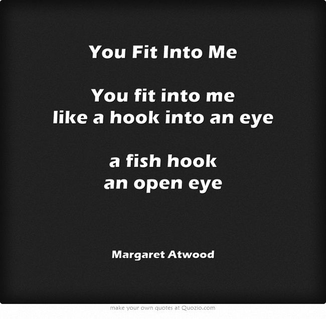 you fit into me margaret atwood