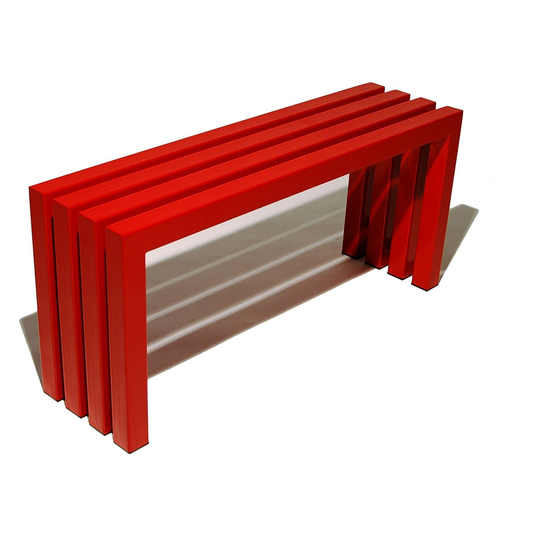 Outdoor Sarabi Linear Backless Bench - Industry Red - 1006