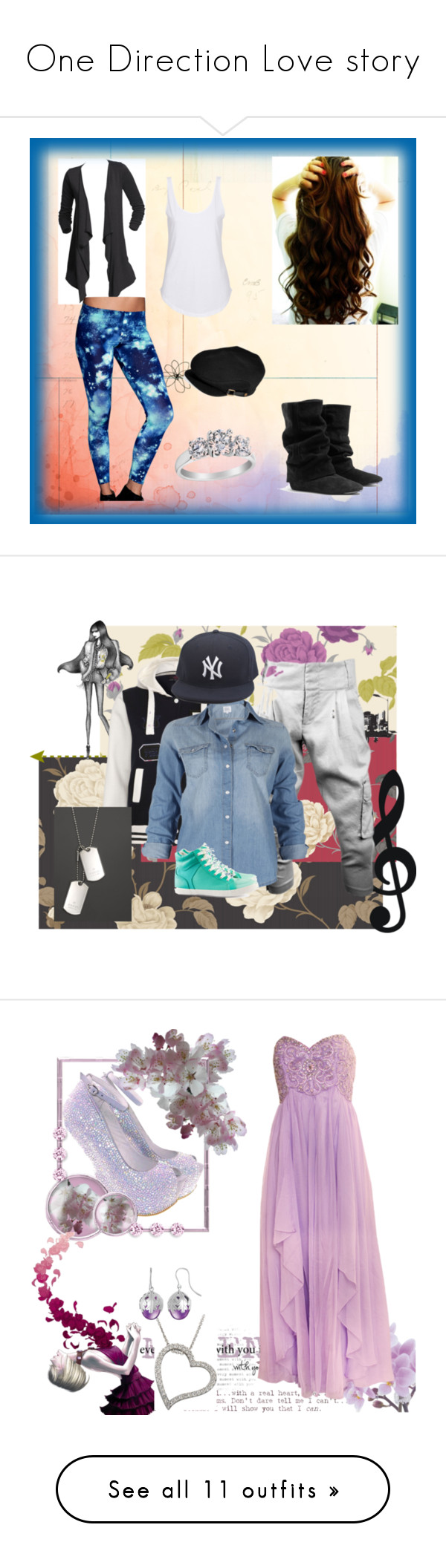 """One Direction Love story"" by loveyourtalent ❤ liked on Polyvore featuring BasicGrey, Percy & Reed, The Cambridge Satchel Company, Eos, Bodas, Polaroid, NIKE, Brooks, Pineapple and CO"