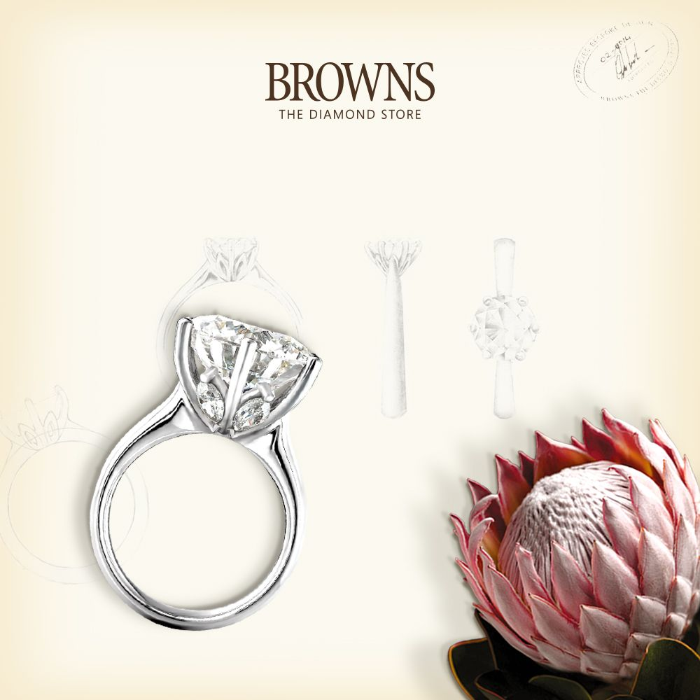 The King Protea Inspired By Our Signature Protea Collection The Most Sought After Engagement Ring In South Africa The King Protea Holds Round Diamond Engagement Rings Engagement Rings Diamond Stores