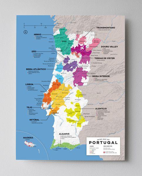 Portugal Wine Map Wine Maps Pinterest