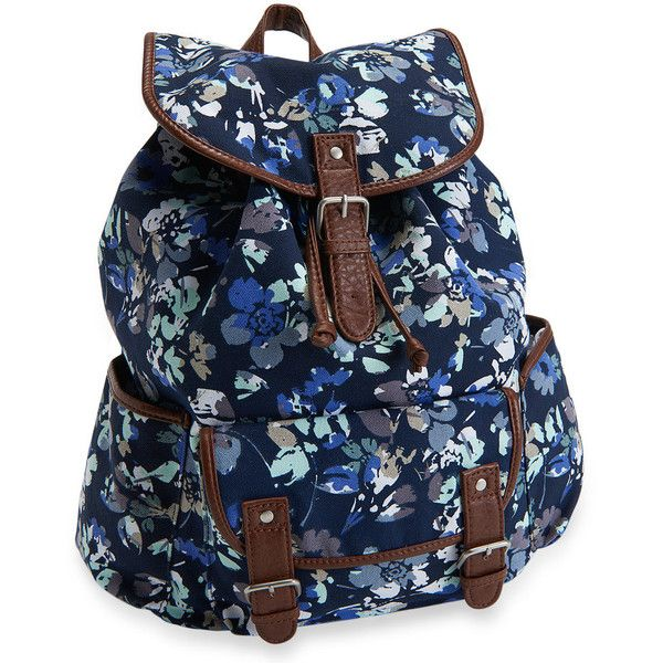 Aeropostale Floral Backpack ($30) ❤ liked