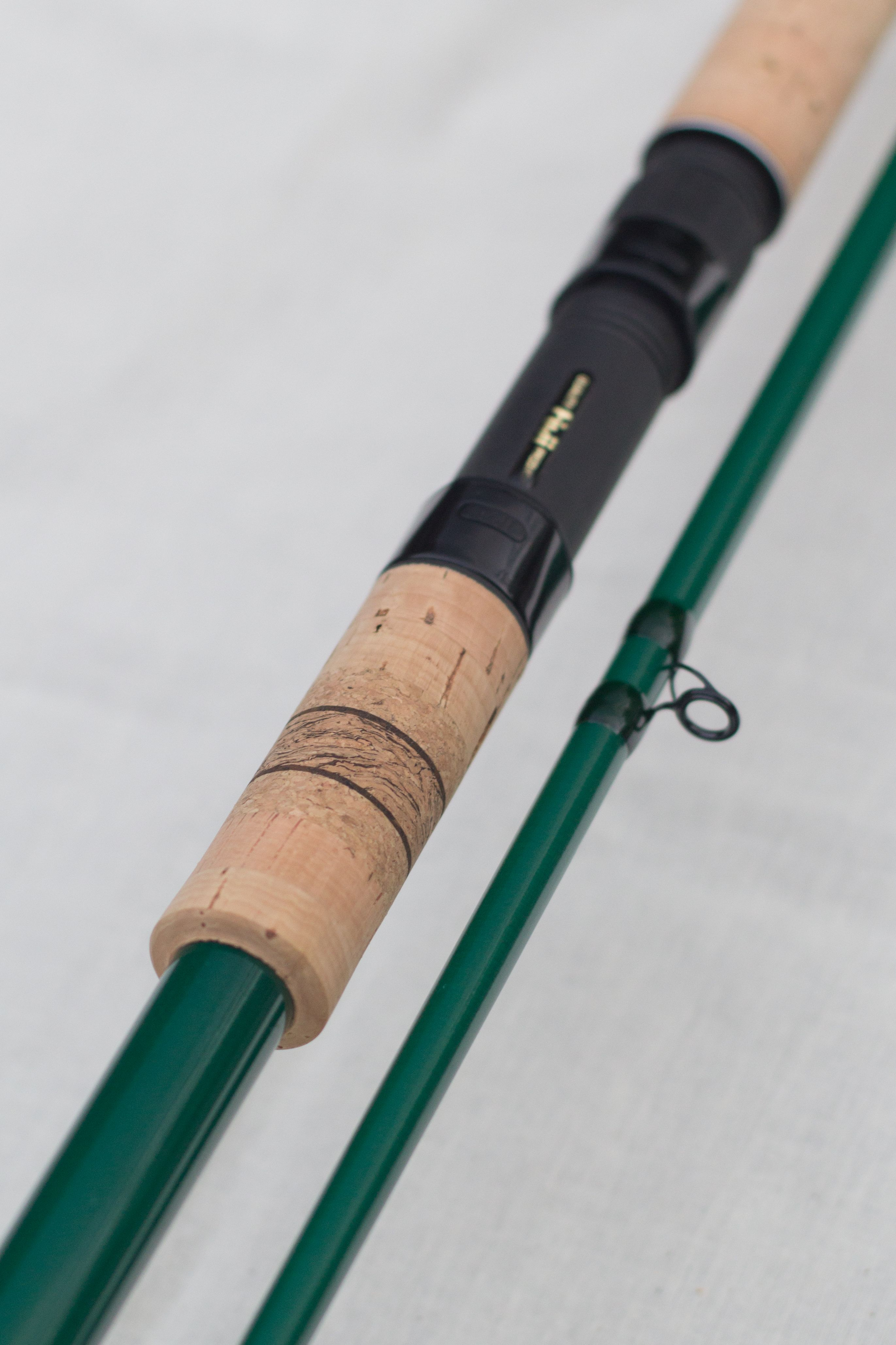 Black On Green Sportex Fiberglass 11ft 2lb Carp Rod Black Fuji Components Silk Wrapped And A Twist Of My Own