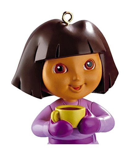 Carlton Cards Heirloom Dora the Explorer with Yellow Tea Cup