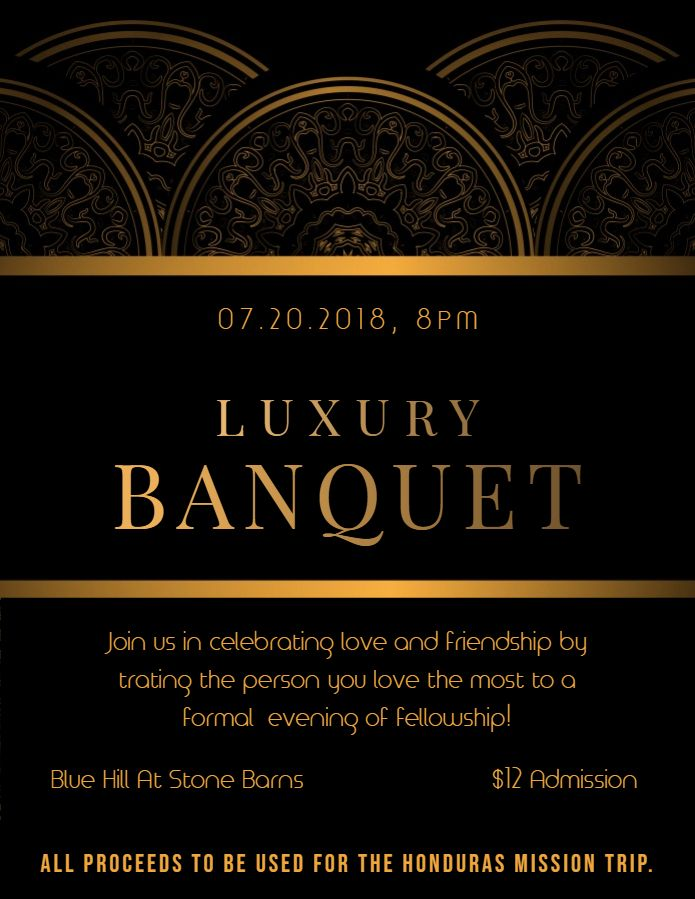 Formal Banquet Dinner Event Invitation Poster Template