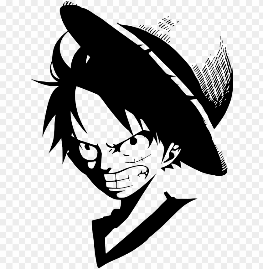 Luffy Clipart Luffy One Piece Black And White Png Image With Transparent Background Png Free Png Images One Piece Logo Luffy Black And White Wallpaper