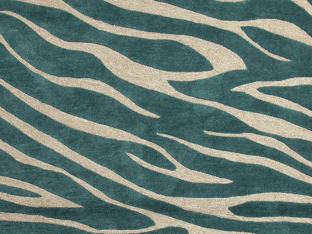Modern Pattern Jaipur Rugs Modern Animal Print Pattern Blue Polyester Tufted Rug Tufted Rug Modern Rugs Jaipur Rugs