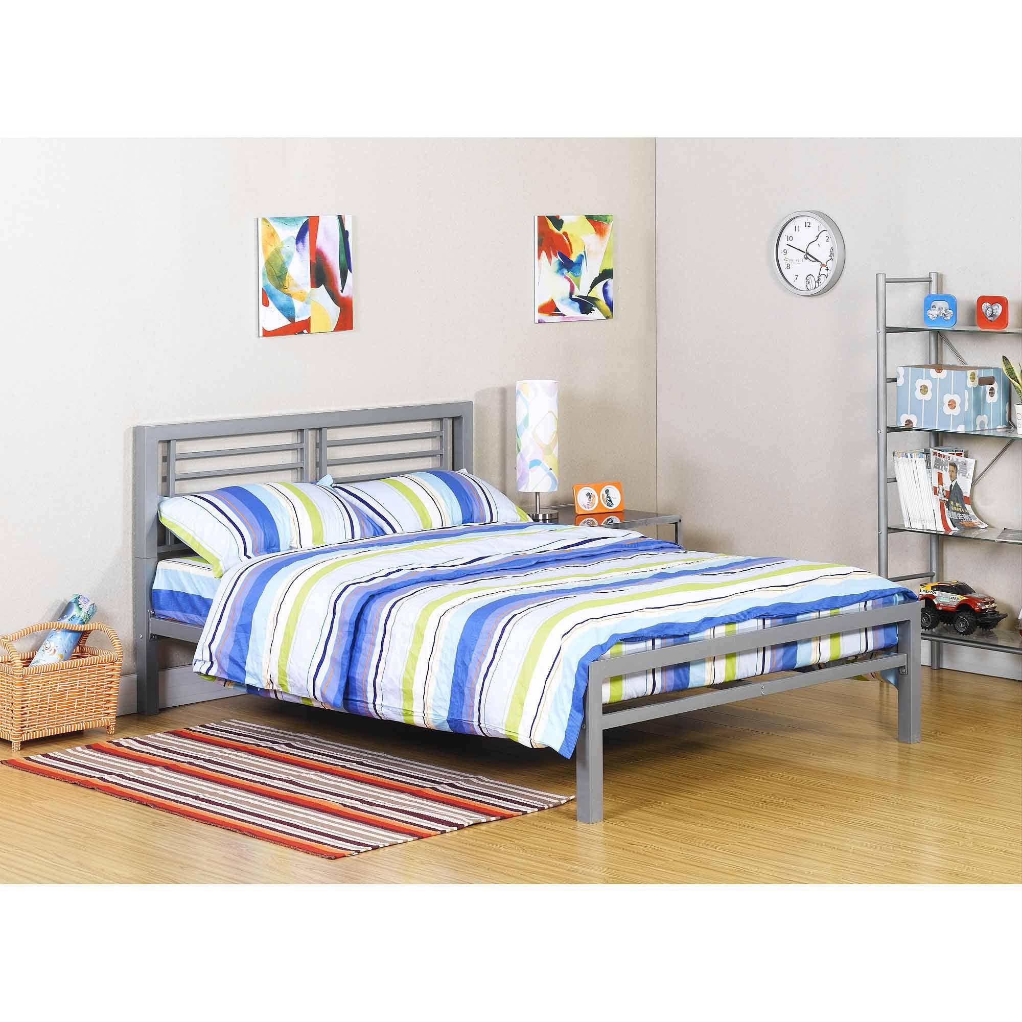 Yourzone Kids Metal Platform Bed Multiple Sizes Multiple Colors