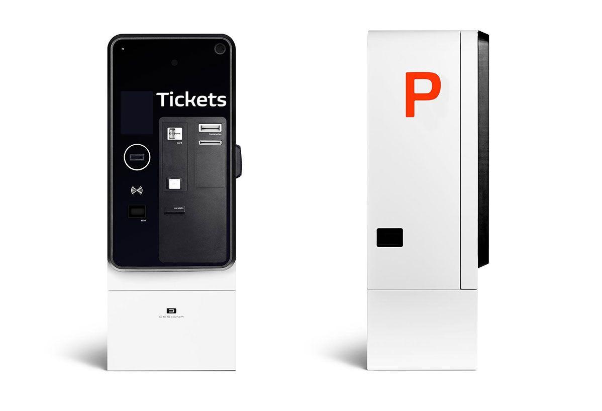 Designa Coinless Parking Payment Terminal Vending Machine Design