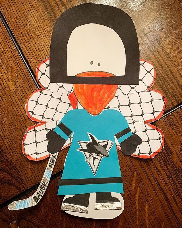 After a few days of finishing up my daughters, my oldest brought home a turkey to disguise too! A @sanjosesharks hockey player! The goal for the wings was all his ideal turned out so neat! #turkeydisguise #disguiseaturkey #2ndgradefun #thanskgivingfun #cr #howtodisguiseyourself After a few days of finishing up my daughters, my oldest brought home a turkey to disguise too! A @sanjosesharks hockey player! The goal for the wings was all his ideal turned out so neat! #turkeydisguise #disguiseaturkey #howtodisguiseyourself