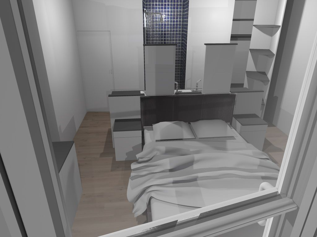 faire d 39 une chambre de taille moyenne une suite avec wc. Black Bedroom Furniture Sets. Home Design Ideas