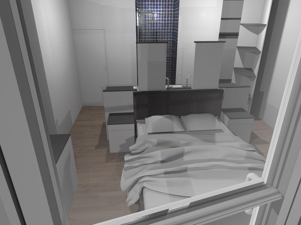 Salle de bain ouverte sur chambre design for Salle de bain ouverte sur dressing