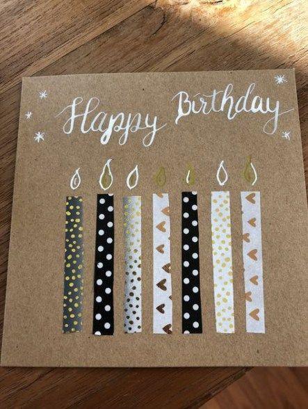 Birthday card diy ideas paper scraps 44+ best ideas #birthdaycards