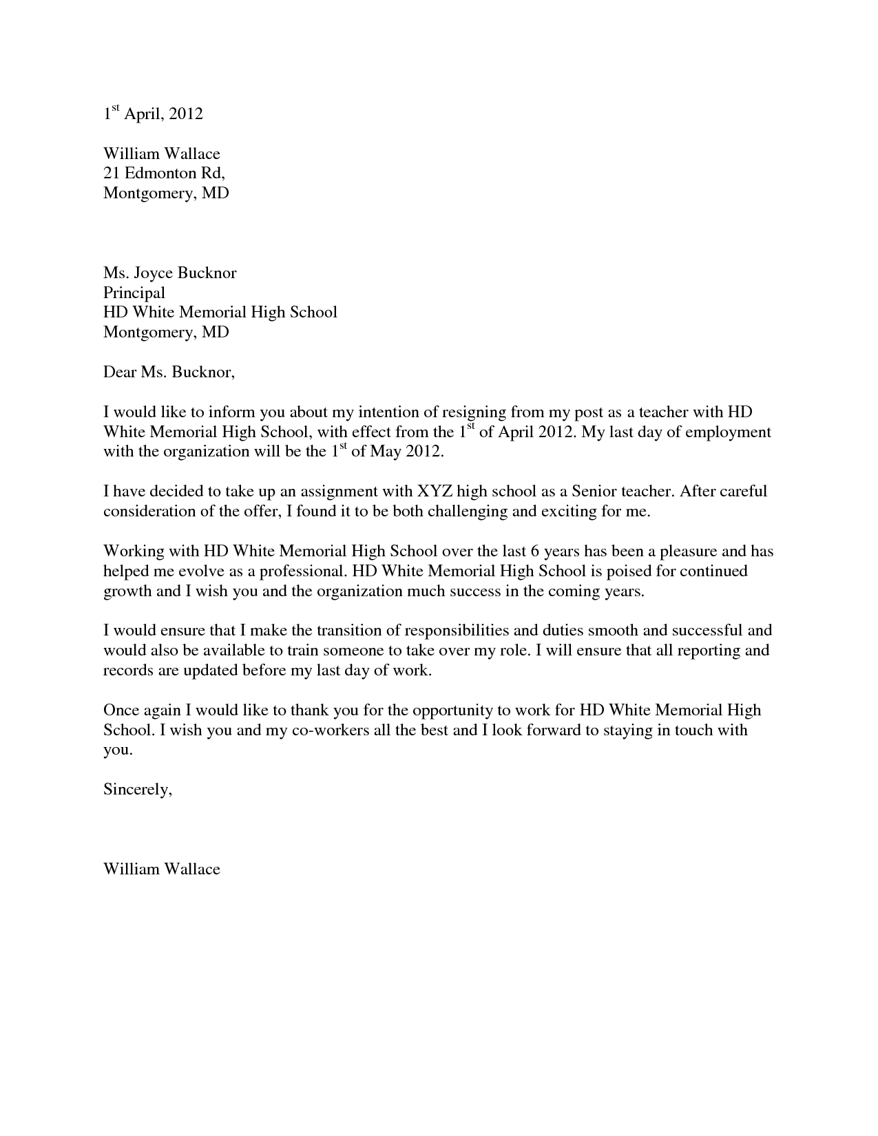 Letter Recommendation For Elementary Music Teacher Cover