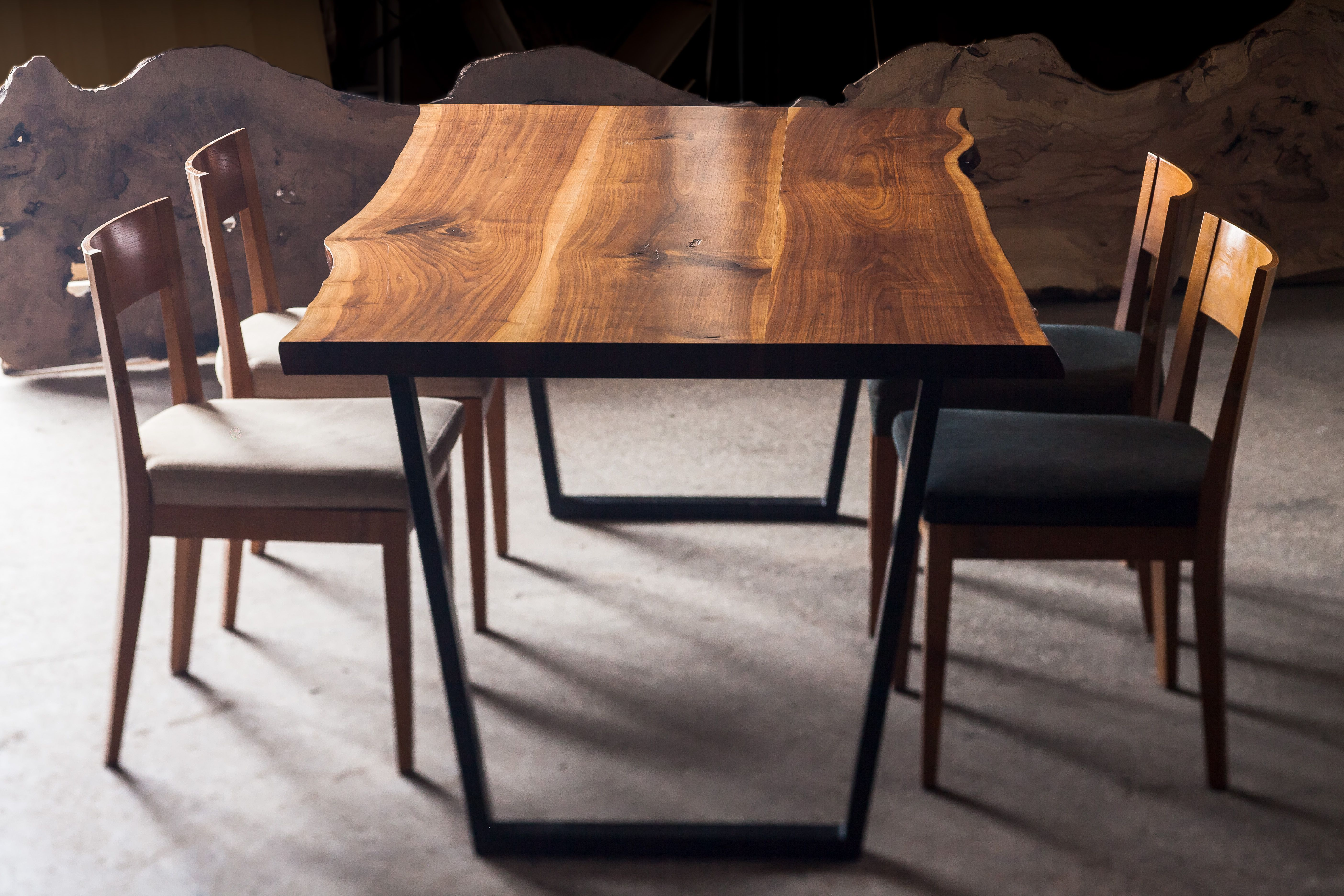 Dining Table Made From Walnut Tree Available For At Www Mamut Tr