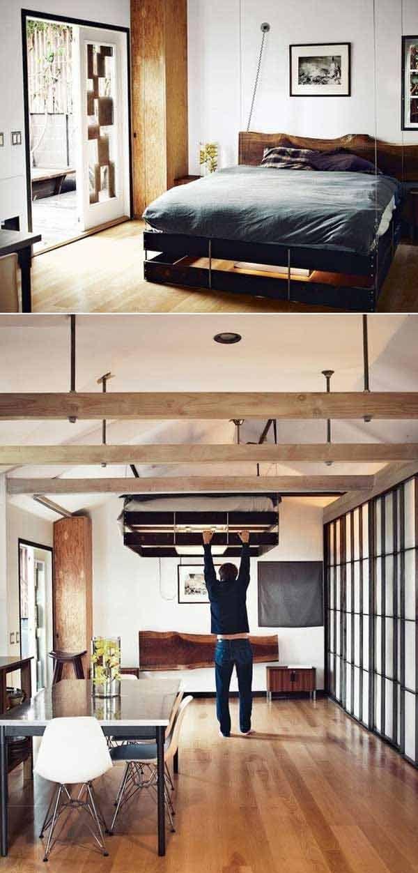Platzsparende Wohnideen Schlafzimmer 23 kreative platzsparende ideen um den raum maximal zu nutzen