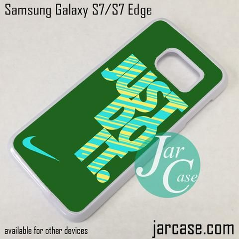awesome nike just do it dark green phone case for samsung galaxy s7 s7 edge samsung samsung. Black Bedroom Furniture Sets. Home Design Ideas
