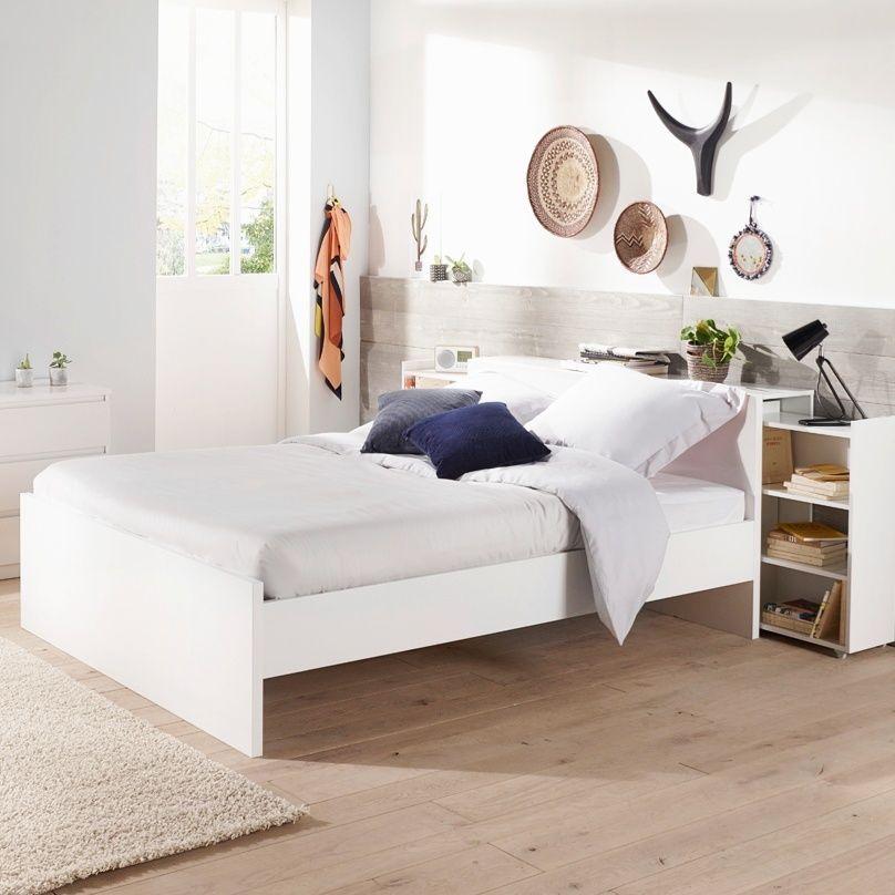Lit Coffre 140x190 Cm Best Lak Blanc Laque Lit Coffre Deco Chambre Lit Coffre 140x190