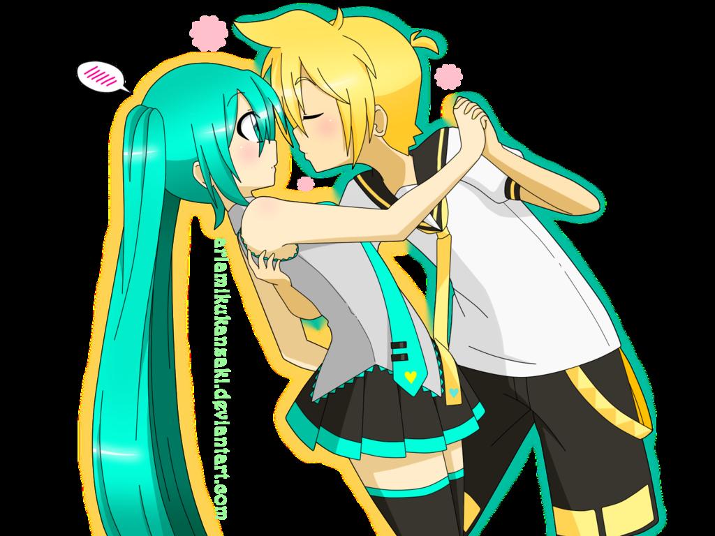 mi hermano Len un mujeriego y yo hatsune miku una chica ...  mi hermano Len ...
