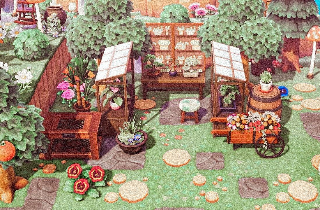 Love how my greenhouse turned out animalcrossing 1000