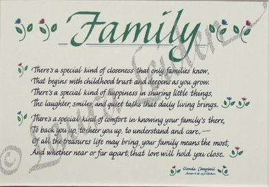 I Love My Family And Friends Poems I love my family poems...