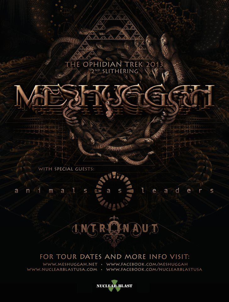 Meshuggah Animals As Leaders Album Art Concert Posters Gig Posters