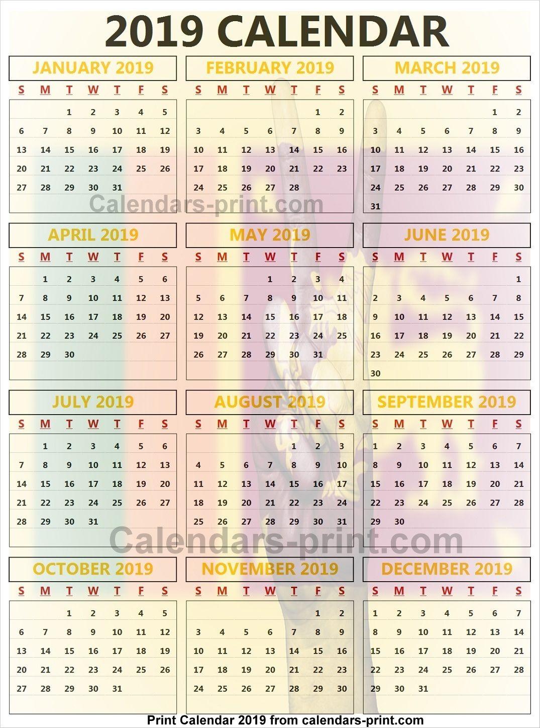 Calendar 2019 Excel Singapore