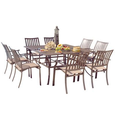 Panama Jack Island Breeze 9 Piece Outdoor Dining Set Patio Dining Set Outdoor Dining Set Outdoor Furniture Sets