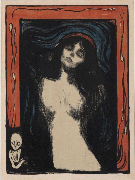 Edvard Munch, Madonna, 1895–1902, Color Lithograph