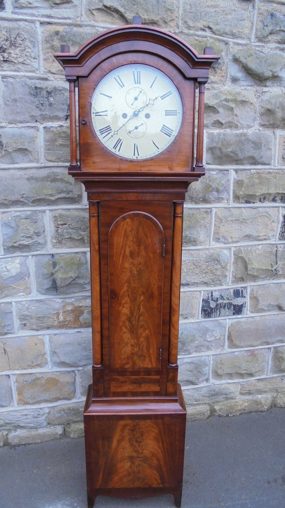 Large Wood Antique Floor Standing Grandfather Clock Moving Chime 72/'/' Classic