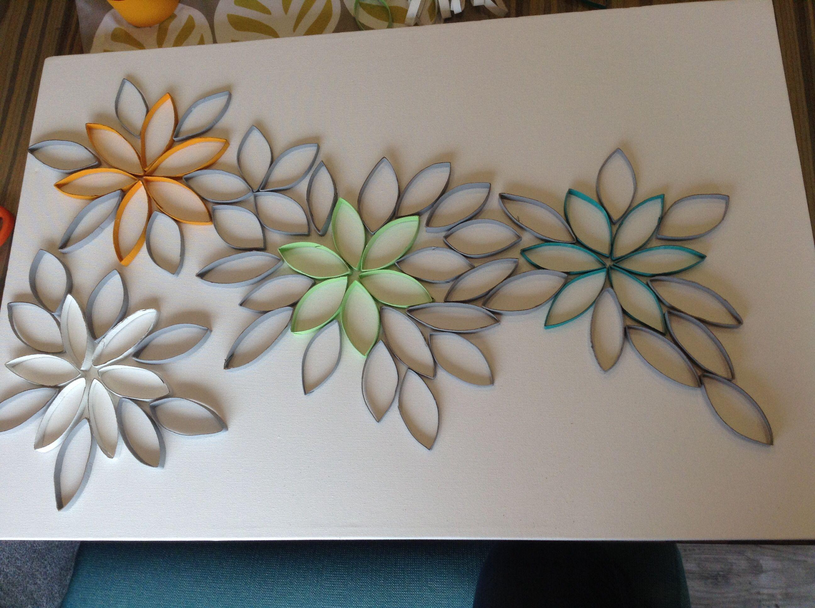 Rollos de papel higi nico cuadro cuadros pinterest - Manualidades con rollos de papel ...